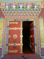 Coloured Temple Door