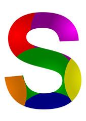 renkli s harf tasarımı