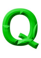 yeşilş Q harf tasarımı