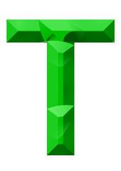 yeşil t harf tasarımı