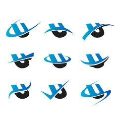 Alphabet U Icons