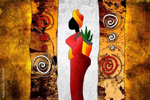 In de dag Afrikaanse Motieven african motive ethnic retro vintage