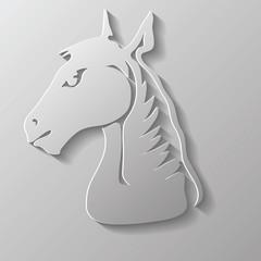 paper horse head