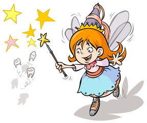 Tooth fairy cute cartoon.