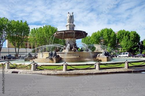 Deurstickers Fontaine fontaine-aix en provence