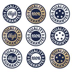 High quality guarantee set label
