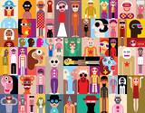 Fototapety People vector illustration