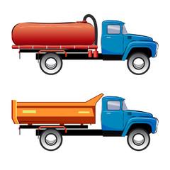 Septic vacuum truck, septic system, vacuum service truck