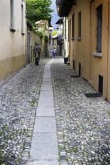 Cannero Riviera, Lake Maggiore, old city alley color image
