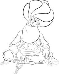 Nasreddin Hoca Karakteri İllüstrasyonu