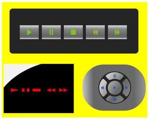 кнопки и панели плеера