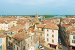 Panoramic view at the old city of Arles in France.