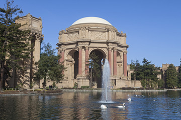 Palace of Fine Arts at San Francisco, California, USA