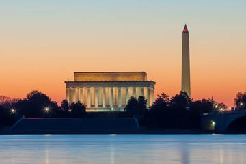 Washington DC skyline at sunrise