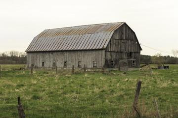 Decrepit wooden barn