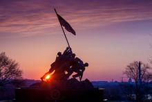 "Постер, картина, фотообои ""Iwo Jima Memorial Washington DC USA at sunrise"""