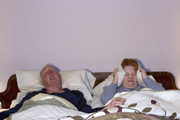 Woman Dealing with Snoring Husband