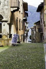 Cannero Riviera, Lake Maggiore, old city view color image