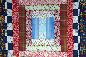 calico patchwork quilt piece