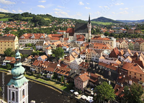 Catholic church of St. Vitus (Cesky Krumlov) in the Czech Republ