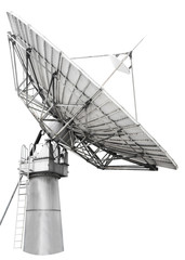 Large satellite dish parabolic antenna designed for transatlanti