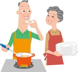 シニアの料理