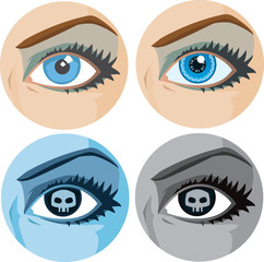 Variations of a girl's eye