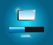loading tablet updates illustration design
