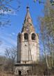 Постер, плакат: Разрушающаяся колокольня Владимирской церкви в городе Вологда