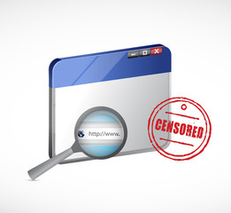 censored web browser illustration design