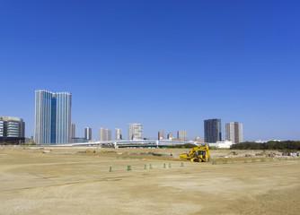 再開発が進む湾岸エリア 大規模開発現場(周辺が2020年東京オリンピック施設が集中)