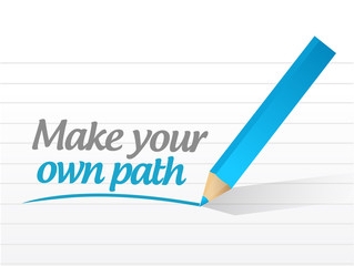 make your own path message illustration