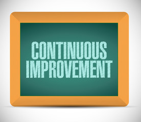 continuous improvement sign message
