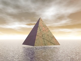 Mystical pyramid - 3D render