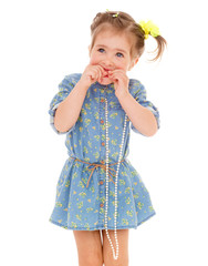 charming little girl playing and having fun.