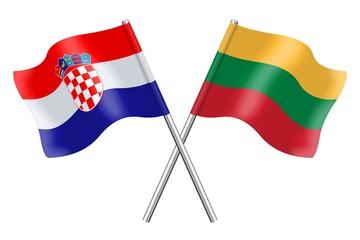 Flags : Croatia and Lithuania