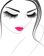 Lash extension beauty icon