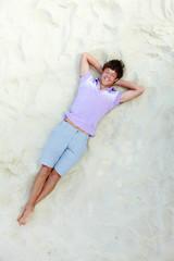 Lad on sand