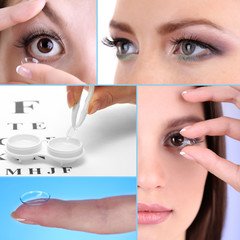 Contact lens collage