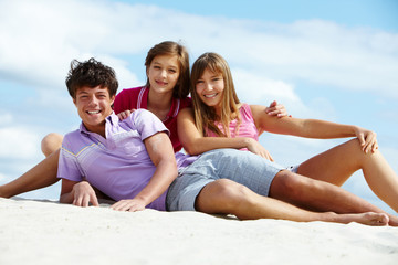 Teens on the beach