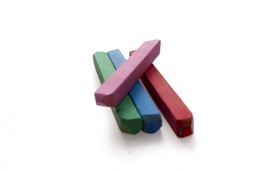 isolated crayons