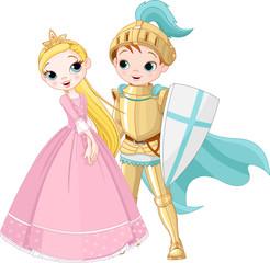 fototapeta rycerz i księżniczka