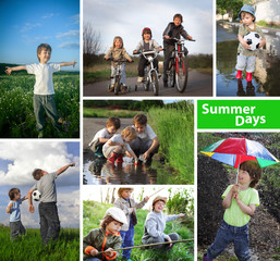 three happy brothers summer time collage