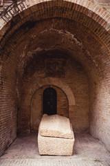detail of trinci house, foligno