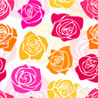 Cute romantic floral pattern romantic pink and yellow roses