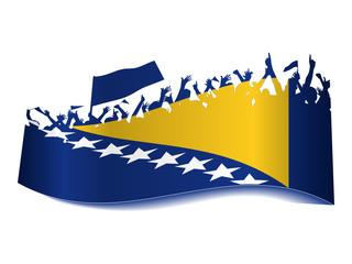 Public Viewing Schild - Bosnien Herzegowina