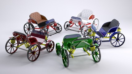 3d unreal horse carriages