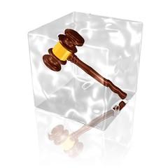 eingefrorener Hammer - verhinderte Versteigerung, Urteil