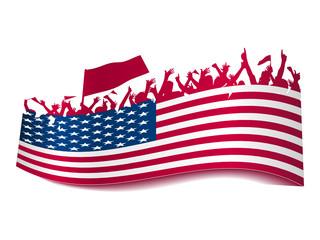 Public Viewing Schild - USA