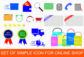 set of Icon for Online Shop